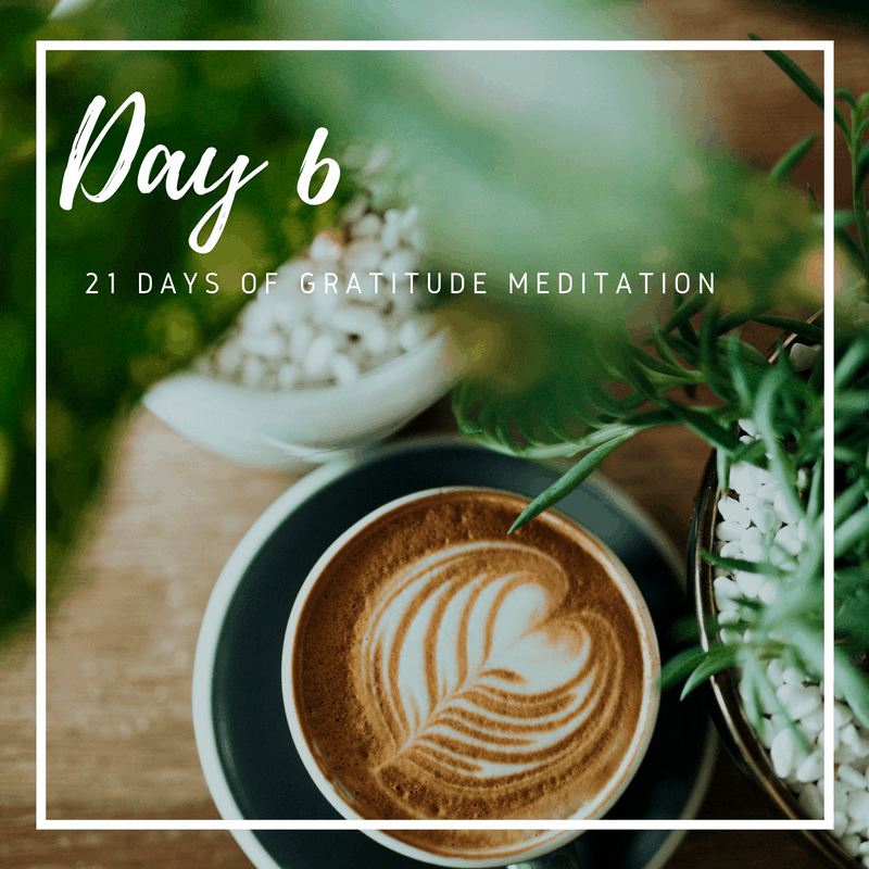 Gratitude Guided Meditation Practice, Day 6